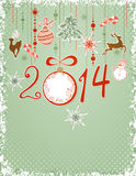 Christmas green background Stock Images
