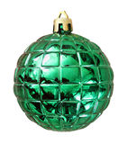 Christmas green ball isolated on white background with clipping Royalty Free Stock Photography