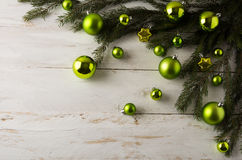 Christmas green balls decoration royalty free stock photo