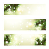 Christmas green banner Royalty Free Stock Image