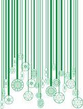 Christmas green bar-code Stock Photo