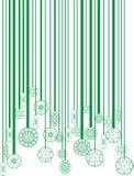 Christmas green bar-code. Illustration bar-code changing the christmas ball Stock Photo