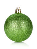Christmas green bauble decoration Stock Photo