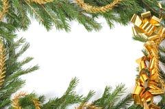Christmas green border. Christmas green framework isolated on white background Royalty Free Stock Images