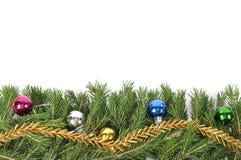 Christmas green border. Christmas green framework isolated on white background Royalty Free Stock Photos