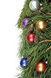 Christmas green border Royalty Free Stock Images