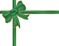 Christmas green bow. Royalty Free Stock Photography