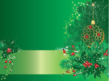 Christmas green card Royalty Free Stock Image
