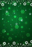 Christmas green card Stock Photos