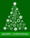 Christmas green card Royalty Free Stock Image