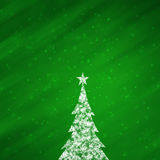 Christmas green color background with lovely Christmas tree Royalty Free Stock Photo