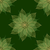 Christmas green floral pattern seamless stock image