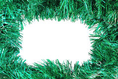 Christmas green frame Royalty Free Stock Image