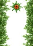 Christmas green framework Stock Image