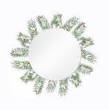 Christmas green framework isolated on white background Royalty Free Stock Photography