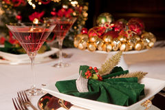 Christmas green napkins 1 Royalty Free Stock Photography