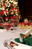 Christmas green napkins 3 Stock Image