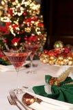 Christmas green napkins 3 Stock Image