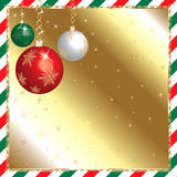 Christmas Green and Red Ornaments Stock Image