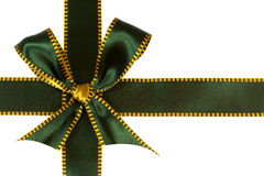 Christmas green  ribbon,isolated on white Royalty Free Stock Image