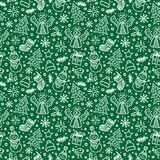 Christmas Green Seamless Pattern. Vector Stock Photos