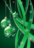Christmas green template Stock Photos