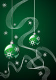 Christmas green theme Stock Image