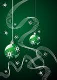 Christmas green theme Stock Image