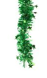 Christmas green tinsel with stars. Stock Photography