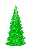 Christmas green tree decoration isolated Royalty Free Stock Images