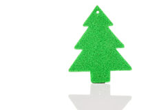 Christmas green tree decorations. Isolated on white background Stock Images