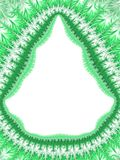Christmas green white frame border, holiday frost pattern, orn Royalty Free Stock Photos