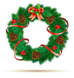 Christmas green wreath Stock Photos