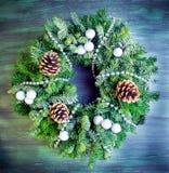 Christmas green wreath Royalty Free Stock Image