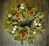 Christmas green wreath Royalty Free Stock Photography