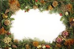 Free Christmas Greenery And Decorations Stock Image - 1401461