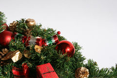 Christmas greenery and baubles Royalty Free Stock Image