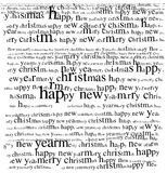 Christmas greeting. Typographic christmas message with merry christmas happy new year text Stock Photo