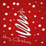 Christmas greeting. Illustration of red christmas greeting card Stock Image