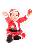 Christmas greeting  baby Royalty Free Stock Photography