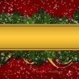 Christmas greeting background Royalty Free Stock Image