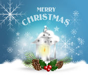 Christmas greeting background Stock Photography