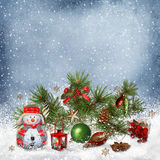 Christmas greeting background stock illustration