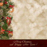 Christmas greeting background Royalty Free Stock Image