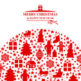 Christmas greeting background Royalty Free Stock Photo