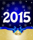 Christmas greeting banner. Happy New Year 2015 From snow Royalty Free Stock Photography