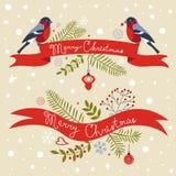 Christmas greeting banners Stock Image