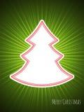 Christmas greeting with bursting christmas tree Stock Image