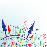 Christmas greeting card. A  illustration of christmas greeting card Stock Photo
