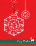 Christmas greeting card Stock Photography